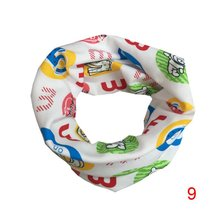2017 Winter Boys Girls Love Heart Cartoon Cute Scarf Cotton O Ring Collars Children Accessories Neckerchief Scarves LY6