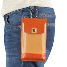 "Hot ! Fashion 5.5"" Leather Carry Belt Clip Pouch Waist Purse Case Cover For Mobile Phone Bag Multicolor Mobile Cell Phone Bag"