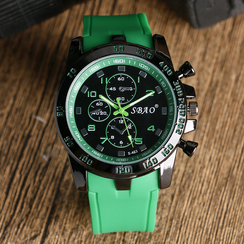 Military Waterproof Men Wrist Watch Green Casual Silicone Strap Watches Quartz Dress Watches Sports Outdoor Clock<br><br>Aliexpress