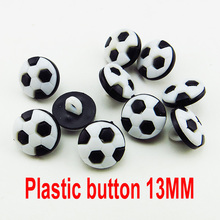 100PCS 13MM white black football Dyed Plastic buttons coat boots sewing clothes accessory P-177(China)
