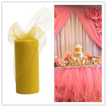 Tulle 22mX15cm transparent gauze elements curtain tissue tulle skirt ballet skirt craft activities party decorations 7ZSH759(China)
