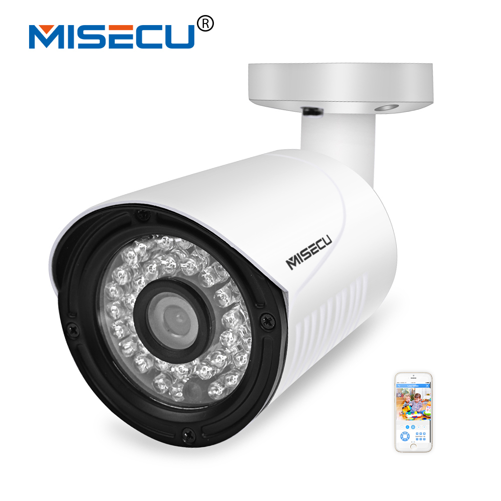 MISECU Newest H.265 Full HD IP Camera 2.0MP Hi3516D AR0237 36pc IR LED 1920*1080P Camera ONVIF Waterproof P2P Night PC&amp;Mobile<br>