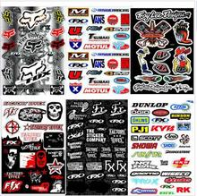 1pcs Decals Stickers pit dirt bike Racing Street Off Road motocross Cross motorcycle scooter ATV for Kawasaki Motorcycle Decal