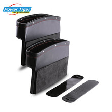 Car Seat Storage Pockets Box Leather Organizer Auto Gap Pocket Stowing Tidying for Phone key Card Coin Case Accessoies(China)