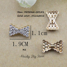 50 pcs/lot Buttons butterfly metal rhinestone embellishments for wedding,hair bows,scrapbooking