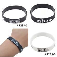 Lychee New Fashion Men Women Unisex Hot Japan Anime One Piece Silicone Rubber Bracelet Wristband