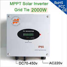 2000W 1 phase on grid solar inverter with RS485, RS232 interfaces for communication, internal DC switch