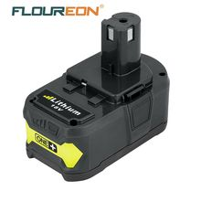 For Ryobi Brand New 18V 4Ah P108 RB18L40 Lithium Ion High Capacity Rechargeable Battery Pack Power Tool Battery Ryobi ONE+