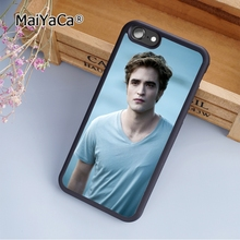 MaiYaCa Robert Pattinson Twilight Vampire soft mobile cell Phone Case Cover For iPhone 7 Plus Custom DIY cases(China)