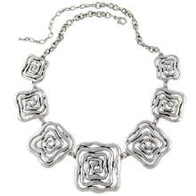 2015 New Arrival Choker Necklace Fashion Women Silver Plated Flower Chunky Chains Statement Necklace Ethnic Jewelry