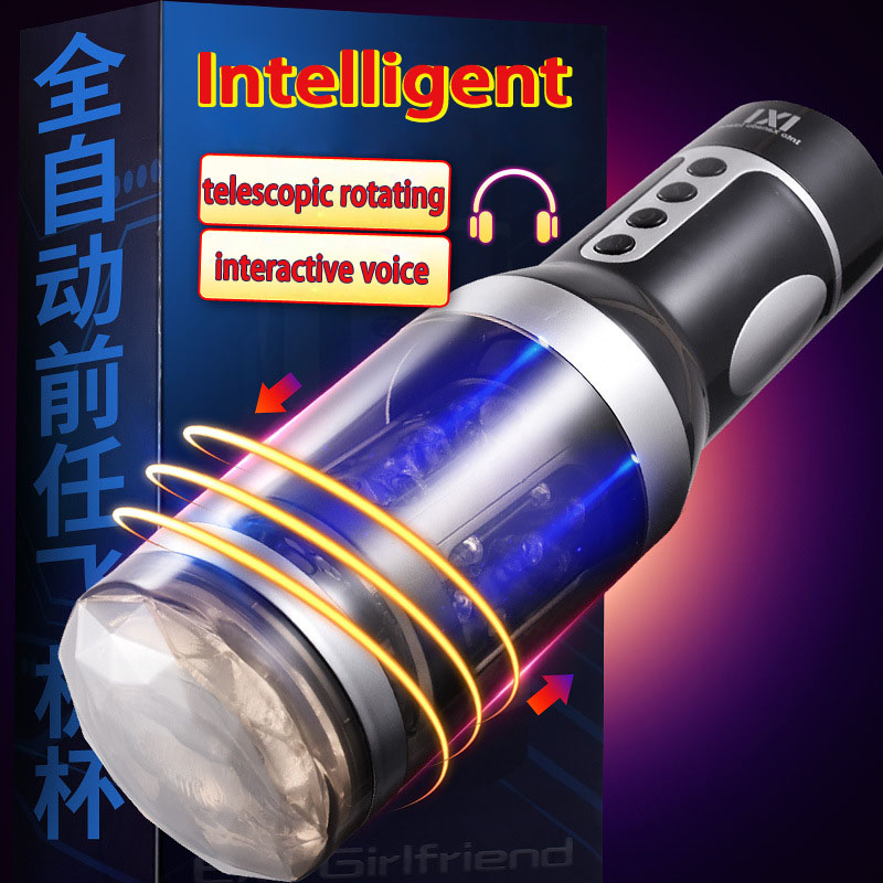 Full Automatic telescopic intelligent masturbation cup male masturbator vagina real pussy Voice sucking machine sex toys men