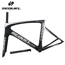Clearance sale !frame road carbon china authorized brand SEQUEL no custom stuck risk Toray t1000 carbon fiber 1K/UD bike parts(China)