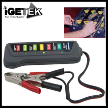 Wholesale high quality 12V Digital Battery / Alternator Tester with 6-LED Lights Display Car Vehicle Battery Diagnostic Tool