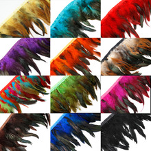 10 meters 12 Colors for Selections Rooster Tail Wedding Bride Dresses Decoration Skirt Feathers Party Decorative Boas Strip(China)