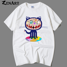 Github mascot Octocat Octopus Cat GEEk Linux Merb Ruby couple clothes sitcoms man men cotton short-sleeve T-shirt(China)