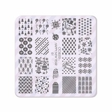 Acrylic Layering Christmas Nail Stamping Plates Konad Stamping Nail Art Manicure Template Stamp Nail Tools HAPPY NEW YEAR(China)