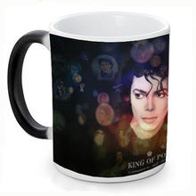 New Michael Jackson Ceramic Coffee Mug White Color Or Color Changed Cup Miss You---Loveful