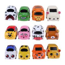 4pcs/lot Mini Cartoon Alloy Car Model Baby Toy Vehicle Model Children Racing Car Bus Truck Home Kids Learning Toy Birthday Gifts(China)