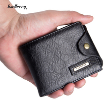 Small Men Wallets leather Guarantee Leather purse with coin pocket black brwon wallet zipper bag multifunction wholesale price(China)