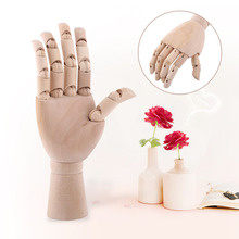 Wooden Artist Articulated Right Hand Model Gift Art Alternatives SKETCH Hand Flexible Decoration Home Decor Office Desk Ornament