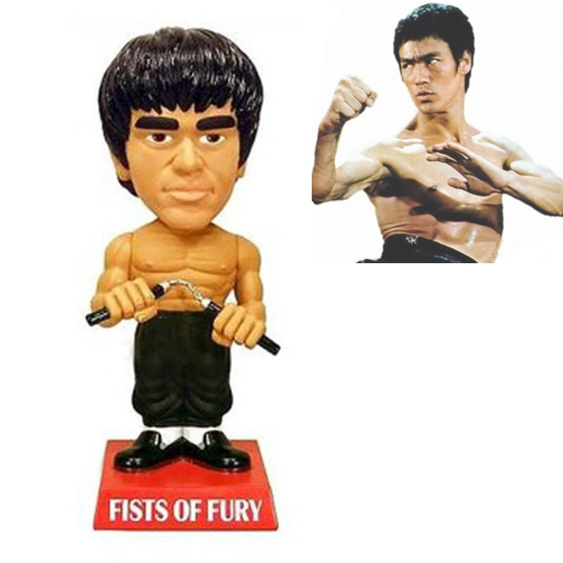 New hot sale Q version Rocker Chinese anime figure PVC doll toys Bruce Lee kung fu star Bruce Lee 18CM free shipping<br><br>Aliexpress