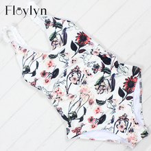 Buy Floylyn Sexy Floral One Piece Swimsuit Women Swimwear Push Monokini Bodysuit Print Swim Suit 2018 Bathing Suit Beach Wear