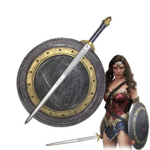 1:1 Movie Wonder Woman Cosplay Shield /Sword PU Cos Prop Halloween Diana Prince Weapon Role Play(China)