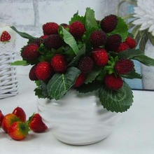 Beautiful 9 fruit decoration flower artificial fruit paddle strawberry photo props Artificial plant Home Decor
