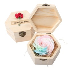Luminous Soap Rose Colorful Soap Flowers Valentine Birthday Gifts Box #265661(China)