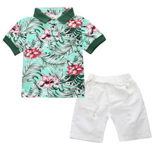 Boys Casual Clothing Sets Spring New European and American Fashion Children Summer Short-Sleeve Shirt+Pant two piece Suit Set