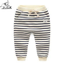 2017 new arrival infant boys warm winter pants kids thick cottom pants children fashion striped long trousers MK25007(China)