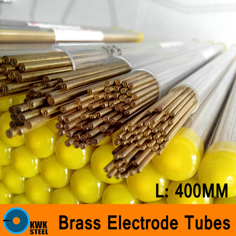 Brass Electrode Tubes 400mm Long Muti-Hole Brass Hole Pipe Small Diameter Tube Electrode Material CNC Electro Machine Process<br>