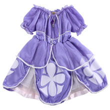 New Children Clothes Baby Girl Dress Princess Sofia Costume Girls Kids Birthday Party Bling Fancy Purple Tutu Dress Clothing