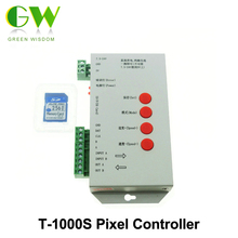 T-1000S LED Pixel Controller for LPD6803 WS2801 WS2811 RGB Full Color DC5V-24V with SD Card.