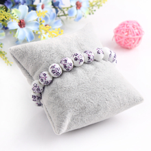 10*8cm 10PCS Wholesale High Quality Ice Velvet Necklace Watch Shelf Bracelet Frame Jewels Storage Display Stand Rack Holder