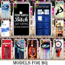 Soft Plastic Painted cases for BQ Aquaris X5 Plus Strike BQS-5020 BQS 5020 E5 4G M5 X5 Bags Dreamcatcher Telephone Booth Letters