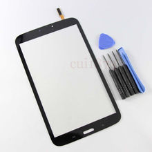 Free shipping top quality  For Samsung Tab 3 8.0 SM-T310 Galaxy WiFi Black Touch Screen Digitizer Glass free tools