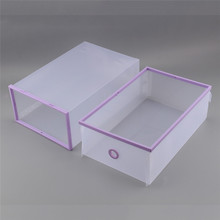 Brand New and High Quality Foldable Plastic Makeup Cosmetics Organizer Clear Drawers Shoes Box Storage organizador de maquiagem