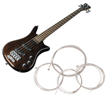 1 Set of 4 Pcs String Bass Guitar Parts 4 Steel Strings Diameter 0.1 inch/0.08 inch/0.055 inch/0.04 inch Guitar Accessories(China)