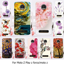 AKABEILA Phone Case For Motorola Moto Z Force Play X4 Edition Verizon Vector maxx Droid 2016 XT1635 XT1650 XT1650-05 Flower Bags(China)
