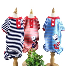 Kawaii Pet Shop Sailor Striped Dog Jumpsuits Rompers Pet Clothes Dog Pajamas Clothes for Dogs Dog Clothes Hot Sale 15ZF01