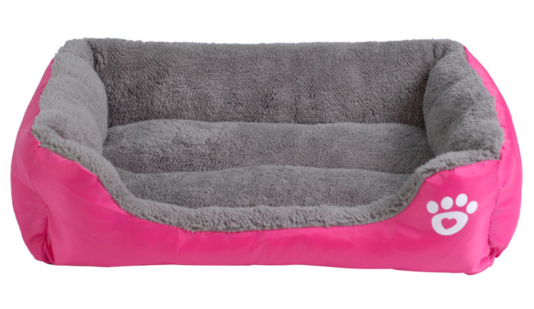 fushia dog bed