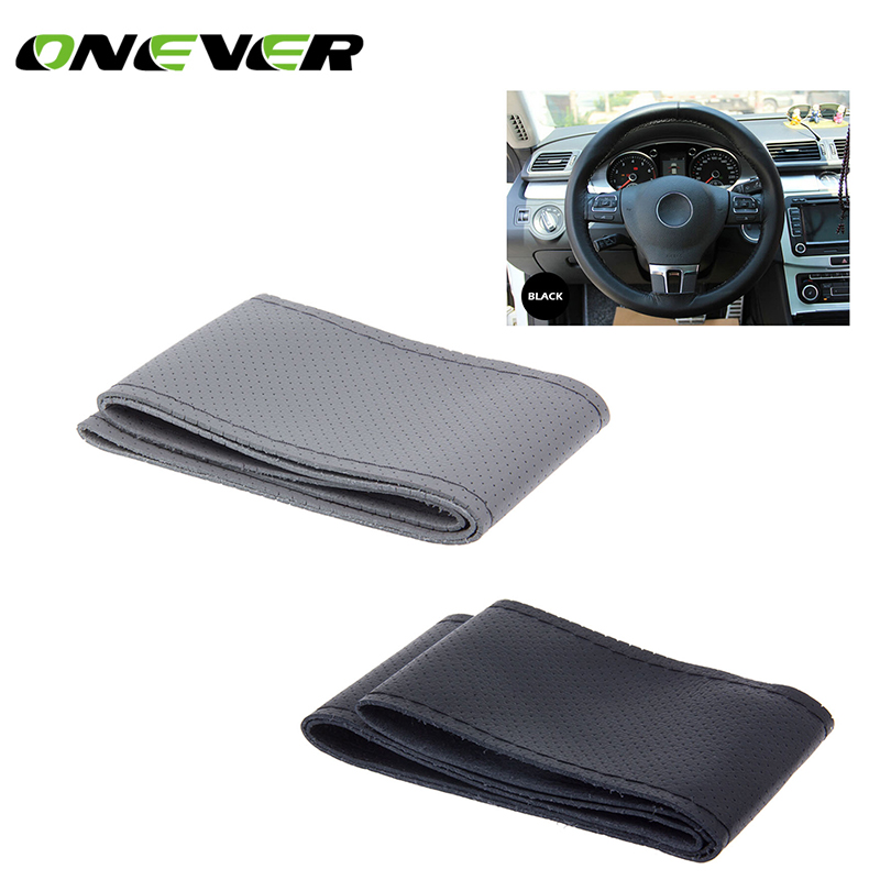 Onever Universal Braid on the Steering Wheel Sew Microfiber Car Steering Wheel Cover to Cover the Entire Single Connector(China)