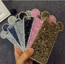 3D Micky Shinny Mouth Ear Glitter TPU Diamond Crystal Shell Cover For APPLE iPhone 6 s 6plus 6s plus New Hot Fashion Phone Cases(China)