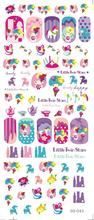 DS045 Water Transfer Foils Nail Art Sticker Harajuku Twins Stars Manicure Decals Minx Nail Decorations Stickers for Nail