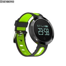 SENBONO SBN-DM58 Bluetooth 4.0 Smart Watch Heart Rate Blood Pressure Fitness Tracker IP68 Waterproof Sports Watch(China)