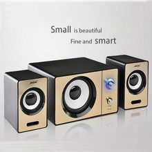 SADA S-20D laptop computer audio speakers, AUX input multimedia mini portable small 2.1 subwoofer, USB powered