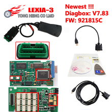 High Quality Diagnostic Tool Lexia3 Newest Diagbox V7.83 PP2000 V48/V25 Lexia 3 Firmware 921815C Lexia-3 for P-eugeot C-itroen(China)