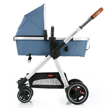 Babyfond High Landscape Shock Resistant Baby Stroller Folding Light Four Wheeled Inflatable Baby Carriage(China)