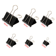 6PCS Metal Clips Paper Clip Stationery Binding Supplies Files Documents Black Binder Clips For DIY 3D Printer machine(China)